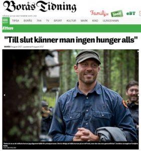 Överlevnadskurs, överlevnadsinstruktör Torbjörn Selin All in Nature SWEDEN