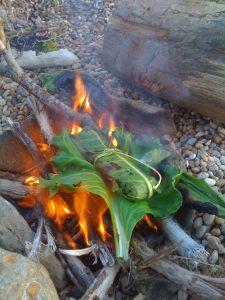 Mat över eld, lägereldens mat, forntida matlagning