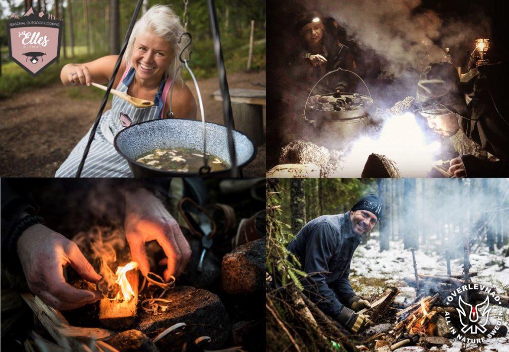 outdoor cooking, utemat, utomhusmatlagning open fire
