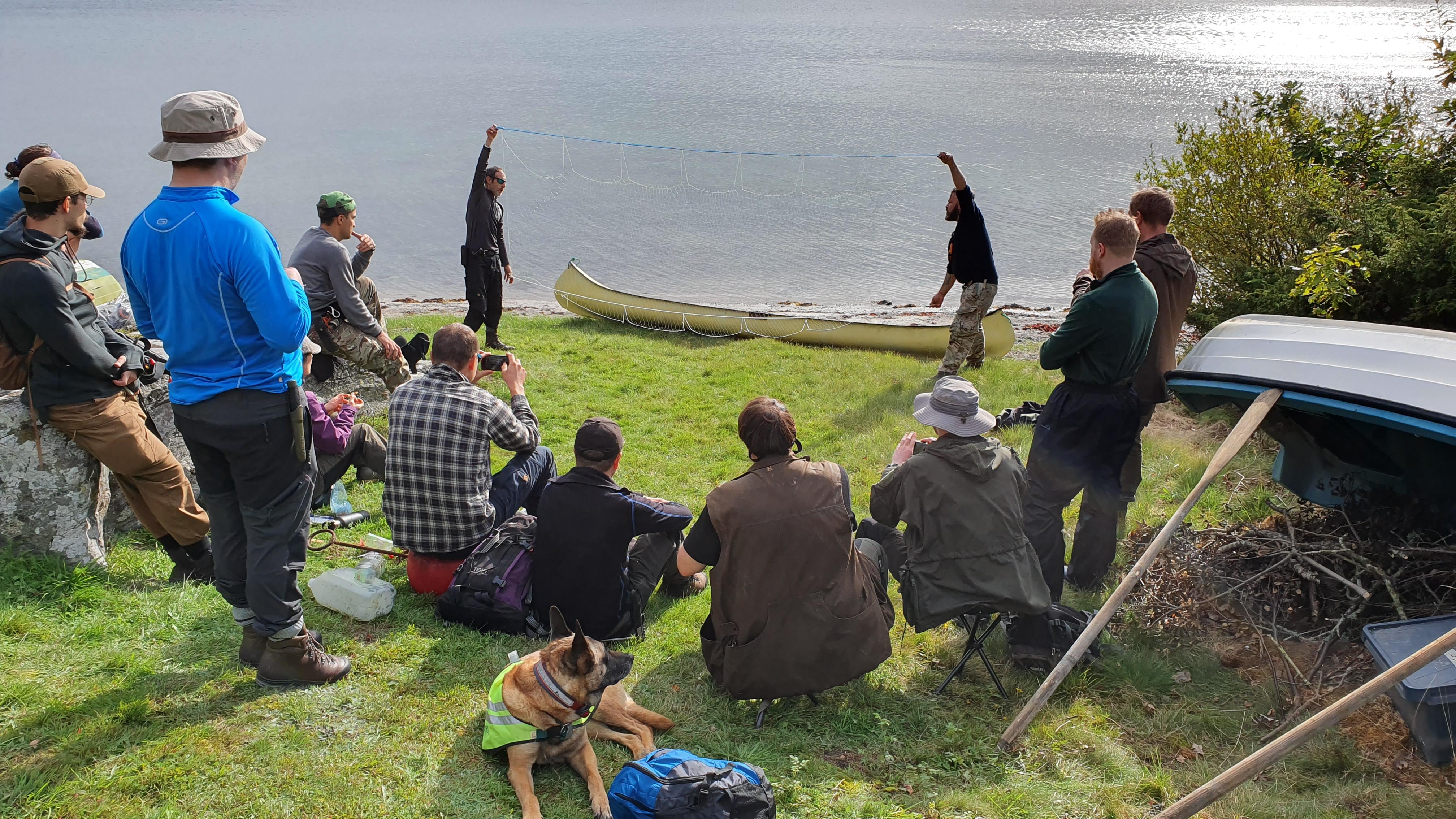 Lektion i kustmiljö i kustöverlevnad