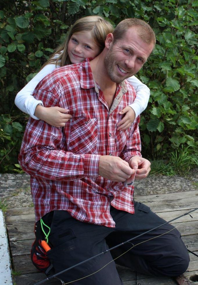 Torbjörn med dottern Tilda