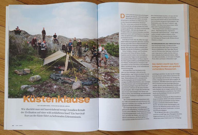 Reportage i tidningen NORR om kustöverlevnad