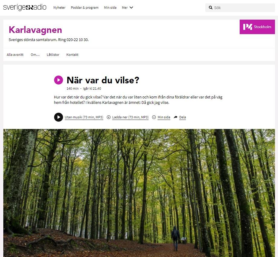 Intervju SR P4 Karlavagnen Navigering