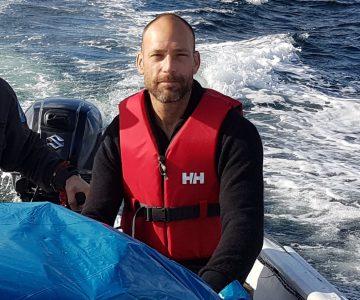 Henrik Alling i båten